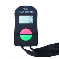 Wholesale hand counters - 5PCS Hand Held Electronic Digital Tally Counter Clicker Security Sports Gym School ADD SUBTRACT MODEL Hot Sale