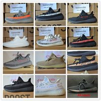 Wholesale Spy Men - 2017 shoes Best SPY 350 V2 V3 boost CP9366 triple white Zebra UV light Kanye west sneakers Men Women Running Shoes size 5 to 13