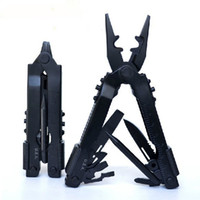 Wholesale Black Pound - Brand New 16.7CM Black Color 2CR13 Stainless Steel Multifunction Tools With Multi-purpose Pliers Knife Bottle Opener Etc