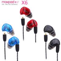 Wholesale Original Sound Headphones - Original Moxpad X6 sport Earphones with Mic for MP3 player, MP5, MP4, Mobile Phones in-ear Earphones Sound Isolating headphones