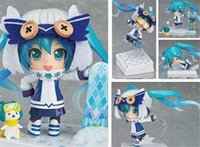 Wholesale Movable Dolls Christmas - POPOToyFirm 10cm Q Version Hatsune Miku Skiing Movable Action Figure Toys cCollection Christmas Toy Doll With bBox