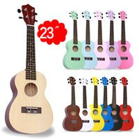 """Wholesale Guitars 12 String Acoustic - Acoustic Electric Guitar Beginner Rose Wood Soprano Guitar Basswood Soprano Ukulele With 4 Strings Picks 12 Colors Available C-Type 23"""""""