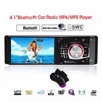 Wholesale car mp3 steering wheel - 4.1'' inch Car Radio Bluetooth Car MP5 Player TFT HD Screen USB SD Support Steering Wheel Remote Control Rear View Camera 4012B