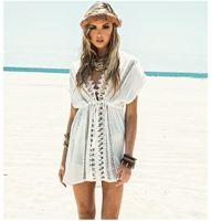 Wholesale white crochet maxi dress - fashion summer 2017 female casual sexy boho long white lace crochet chiffon dress Maxi beach dress