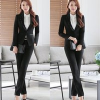 Wholesale Korean Fashion Skirt Long - 2017 New Korean Fashion Office Uniform Designs Women Ruffles Skirt Suits 2 Piece Set Women Business Blazer & Ladies Skirt Suit