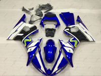 Wholesale Yamaha R6 Body Kit White - Plastic Fairings YZF600 R6 03 04 Body Kits for YAMAHA YZFR6 03 05 Blue White for MOVISTAR ABS Fairing YZFR6 2003 2003 - 2005