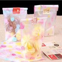 Wholesale biscuit cake bread cookie bag pink yellow dot printed plastic snack bag bake gift bag cm cm