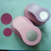 Wholesale Wave Punch - Wholesale- Free Shipping Wave Circle(4.8cm and 3.6cm)craft punch set Paper Punches Set Furador Scrapbook Standard Hole Punch Shaped Punches