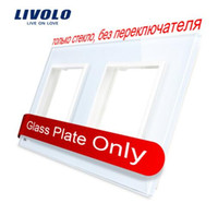 Livolo Luxury White Pearl Crystal Glass, 150mm * 80mm, norme UE, double vitrage pour mur SwitchSocket, VL-C7-SR / SR-11