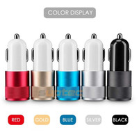 Wholesale Post Parcel - Parcel Post Hot SUPTE Car Phone Charger 2 Port Mini Dual USB Car Charger Adapter Quick Charging 5V 2A for iP Samsung Xiaomi LG Car-charger