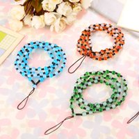 Wholesale Long Lanyards For Cell Phones - Fashion Pearl Long Chain lanyard Cell Phone Neck Straps Hang Rope for Cell phone USB Flash Drive ID Card
