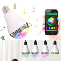 Wholesale Change Speaker - Bluetooth 4.0 Speaker Smart LED Light Bulb Music Audio Speaker Wireless Control RGB Color Changing Bulbs E27 Lamp For all android devices