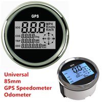 Wholesale Digital Speedometer Auto - 85mm 9-32 VDC 100mA GPS Speedometer gauge Digital For Auto Car Truck Marine