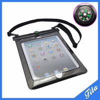 Wholesale Tablet Bags Free Shipping - Wholesale-Free Shipping Waterproof Case Pouch For iPad 2 3 4 Air 10 inch Cover for Tablet 10 Meters Underwater Diving Bag