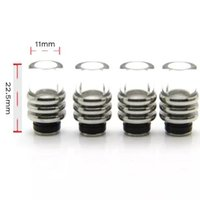 Stainless Steel Glass 510 Flat Drip Tips Buraco largo 11mm Ecigarette Mouthpiece para Ego Electronic Cigarette 510 Thread Atomizers Clearomizers