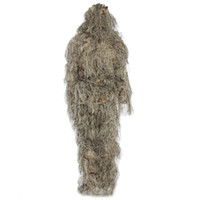 Ghillie Suit CS Camouflage Suits Set 3D Bionic Leaf Caccia Disguise Uniforme Sniper Jungle Treno militare Pile di caccia Bosco