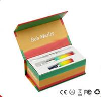 bob marley vaporizer toptan satış-E Sigara Bitkisel Bob Marley Kuru Ot Buharlaştırıcı Kiti ile 650 mAh Pil eVod Balmumu Dab Kuru Ot Atomizer ECigs Vape Kalem Kiti Hebe Titan