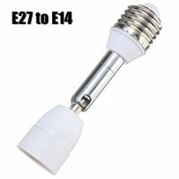 adaptador de soquete e14 venda por atacado-Alta Qualidade E27 A E14 Flexível Estender Base de Luz Conversor Adaptador Conversor Tomada Parafuso 110-240 V