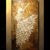 Wholesale Ballet Oil - Ballet Dancer Picture Hand Painted Modern Abstract Palette Knife Oil Painting On Canvas Wall Art For Living Room Home Decoration