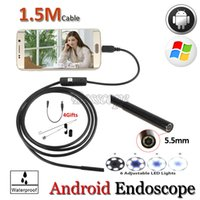 Wholesale Industrial Repairs - OTG USB Endoscope Android Phone USB Camera 5.5mm Len Pipe inspection IP67 Waterproof Snake Repair USB Review Endoscope
