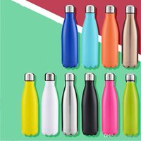 Wholesale Thermos Flask Sale - Hot Sale Fashion Sport Vacuum Flasks Thermoses Double Walled Vacuum Insulated Water Bottle Cola Shape Stainless Steel Travel Water Bottle