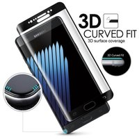 Wholesale Full Guard - Full Coverage Curved 4D 3D Tempered Glass Screen Protector FOR SAMSUNG GALAXY S8 plus S7 S6 Edge,New NOTE 8 9H Hardness Toughened Film Guard