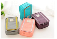 Wholesale Portable Lingerie Case - be a Traveler Portable shoes Bra Underwear Lingerie Case Travel Organizer Bag Storage wardrobe organizer Waterproof Secret Pocket
