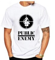 Wholesale Sublimation Sleeve - 2017US Rap Team Public Enemy T Shirt Sublimation Printed Graphic Print T-shirt Summer Style Tshirt S - 3XL Novel music teeS-XXXL gtnj