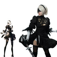 Wholesale 2017 the latest game NieR Automata YoRHa No Type B Uniforms Cosplay Costume B and S full set cosplay costume