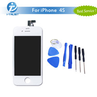 Wholesale Iphone 4s Replacement Screen Tool - Grade A+++ Quality LCD Display For iPhone 4S Good Repair Replacement Parts & Free Repair Tools &Free Shipping
