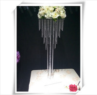 Wholesale Tall Crystal Flower Stands - Best Selling clear acrylic Crystal flowers stand Vase Home wedding Decoration Tall Vase Flower