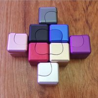 Wholesale Magnetic Gyro - Aluminum Alloy Magic Cube Hand Spinner Magnetic Rotating Finger Toy Funny Fidget Cube Spinner ADHD Decompression Fingertip Gyro YH989