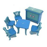 Wholesale 3d Wooden Dollhouses - DHL Free Shipping DIY Mini Furniture Set Kids Educational Dollhouse Furniture Set 3D Wooden Toys Puzzles Model