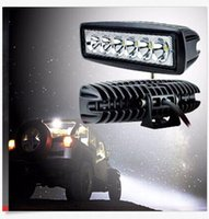 "Wholesale Led Cree Car Offroad - 2PCS 18W 6"" FLOOD Cree Led Bar Work Light Boat Car Truck Lamp SUV UTE ATV offroad"