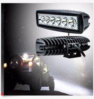 "led work lamp bar prices - 2PCS 18W 6"" FLOOD Cree Led Bar Work Light Boat Car Truck Lamp SUV UTE ATV offroad"