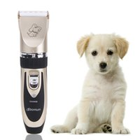 Wholesale Dog Hair Machine - Professional Grooming Kit Titanium Ceramic Rechargeable Pet Cat Dog Hair Trimmer Electrical Clipper Shaver Set Haircut Machine