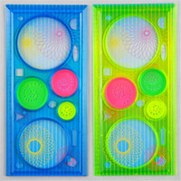 Wholesale Drawing Toys - Wholesale-3 pcs Spirograph Geometric Ruler Drafting Tools Stationery Drawing Toys Set Learning Art Sets Creative Gift For Children