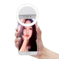 Wholesale iphone smart rings for sale - Smart Clip on Selfie Light Ring Darkness Enhancing Photography Fill In Light Live Show Selfie LED lamp For iPhone s plus se etc