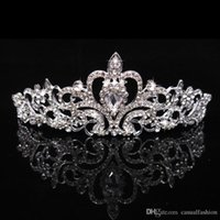 Wholesale Cheap Wedding Jewelry For Brides - Hot Sale Wedding Shining Crowns Fashion Cheap Crowns For Bride Queen Girls Party Wedding Hair Accessories Jewelry Crown