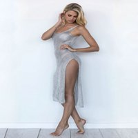 Wholesale America Swimsuit - 2017 Europe and America knitting Hollow. Beach Resort Beach coat Sunscreen clothing Bikini Swimsuit Loose coat