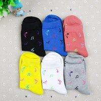 Wholesale Music Socks - Free shipping fashion musict theme socks cotton women music note socks wholesale