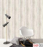 Wholesale Housing Curve - Curve strips pattern wallpaper simple strips Grey color wall paper roll waterproof vinyl wallpaper mural wallpaper for living room bedroom