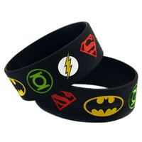 Wholesale Super Heroes Flash - 1PC Super Heroes Silicone Bracelet With Superman, Batman, Green Lantern, The Flash, Perfect To Use In Any Benefits Gift For Gamer