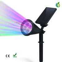 Wholesale Ip44 Plug - RGB Solar Plug Light White Solar Lawn Light for Garden Lighting Landscape lights LED Outdoor Lighting