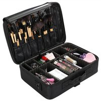 Wholesale beauty makeup tool bag for sale - Makeup Cosmetic Case Beauty Artist Box Storage Tool Brushes Bag Organizer Black