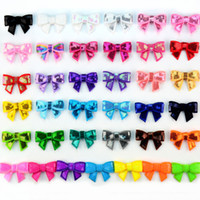 "Wholesale Embroideried Sequin Bows - Newest 1.8"" Sequin Bows Various colors Boutique Embroideried Bow Baby Girls Hair Accessories 200pcs lot"