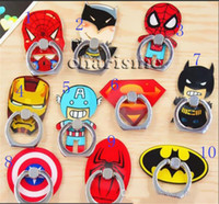 Wholesale Ipad Spiderman - Universal 360 Degree Ring Holder Super Hero Superman Spiderman Finger Ring Holder Phone Stander for iphone 6s 7 samsung s7 s8 ipad huawei