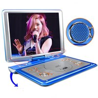 Wholesale Dvd Evd Player - Wholesale- SAST HD LED Screen 18 inch+Super Slim+TV+Game+Built-in Battery Home Portable Moving DVD EVD Player 3D Disc Video machine Golden
