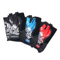 Wholesale Wholesale Bike Gloves - DHL 50PCS Cycling Gloves Road Bike Gloves Men Breathable Sports Half Finger Anti Slip Bicycle MTB Road Bike Gloves Equipment 4 Colors