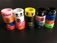 Wholesale Decorative Ego Batteries - ECIG Super Batman Captain Hero America Flash Deadpool Punisher Silicone Vape Bands Rings Decorative Ring For RDA Mod eGo Battery Tank Band